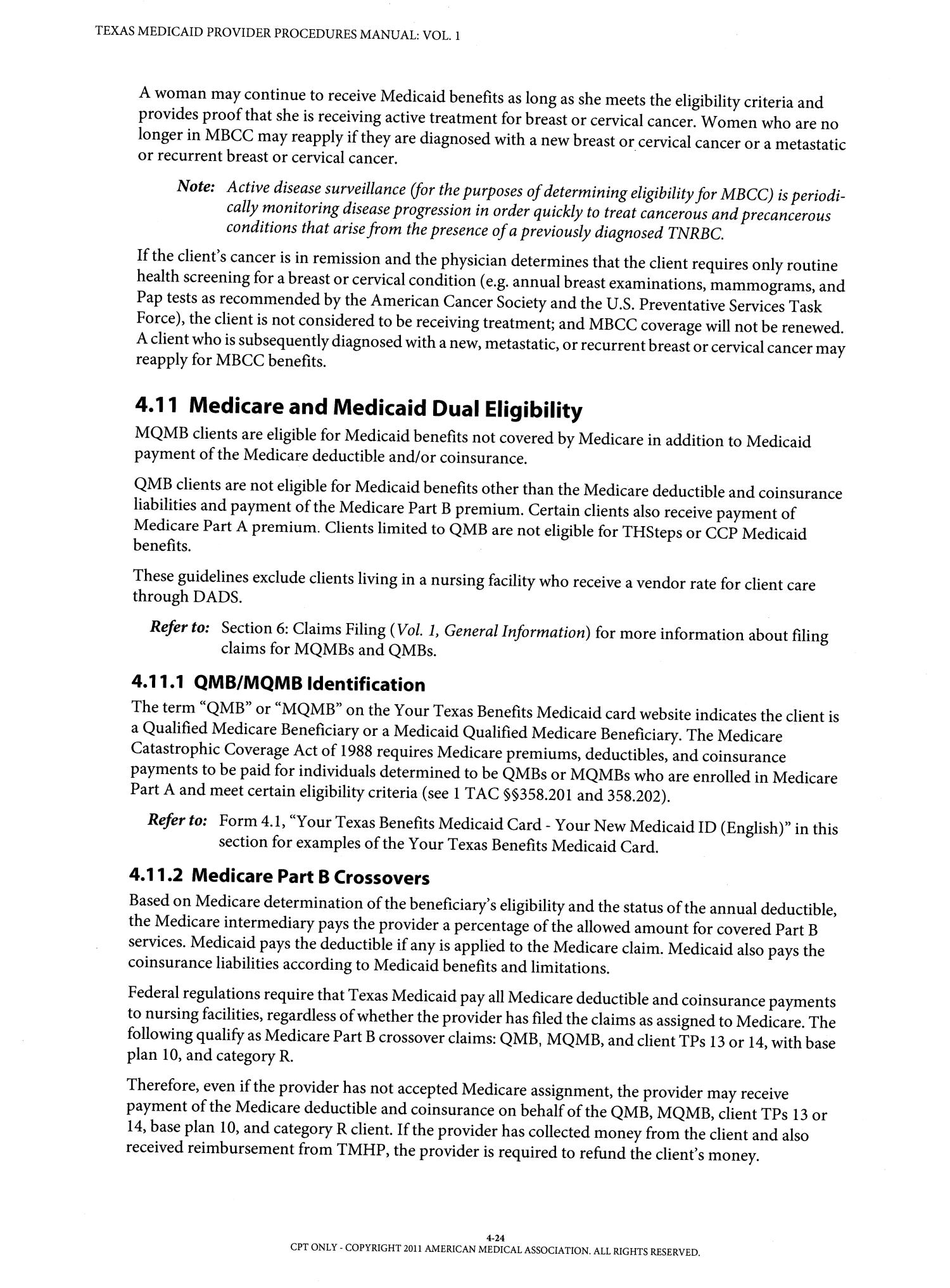 mqmb Texas Medicaid Provider Procedures Manual: Volume 1, General ...