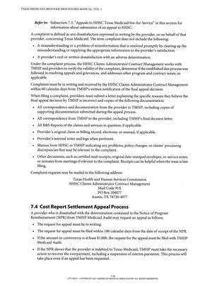 Texas Medicaid Provider Procedures Manual: Volume 1, General