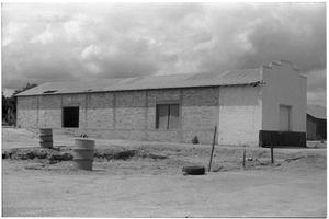 Primary view of object titled '[Brick Building Near Construction]'.