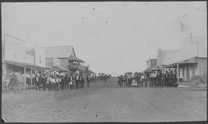 Primary view of object titled '[Photograph of Main Street]'.