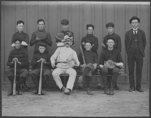 Primary view of object titled '[Photograph of Baseball Club]'.