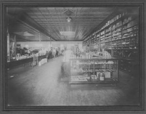Primary view of object titled '[Photograph of Schuhmann Hardware Co. Interior]'.