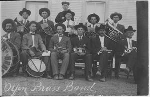 [Postcard of Olfen Brass Band]