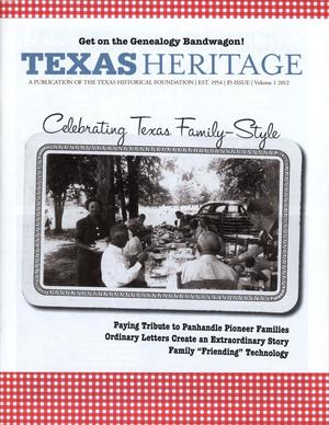 Primary view of object titled 'Texas Heritage, 2012, Volume 1'.