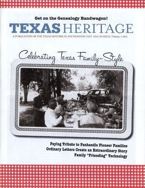 Texas Heritage, 2012, Volume 1