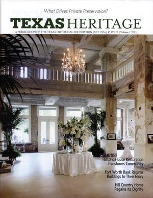 Texas Heritage, 2013, Volume 1