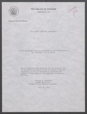 Primary view of object titled '[John Tower Statement on the Manned Orbiting Laboratory, July 30, 1965]'.