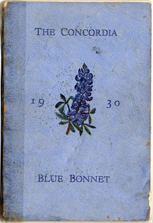 Primary view of object titled 'Blue Bonnet, Yearbook of Concordia Lutheran College, 1930'.