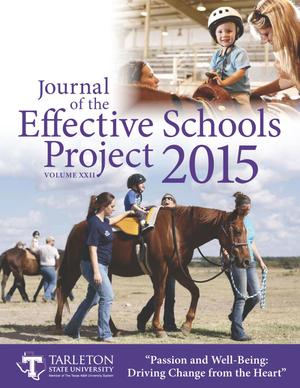 Primary view of object titled 'Journal of the Effective Schools Project, Volume 22, 2015'.