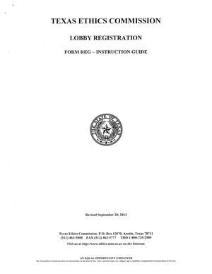 Primary view of object titled 'Form REG Instruction Guide: Lobby Registration'.