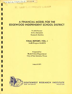 Primary view of object titled 'A Financial Model for the Edgewood Independent School District'.