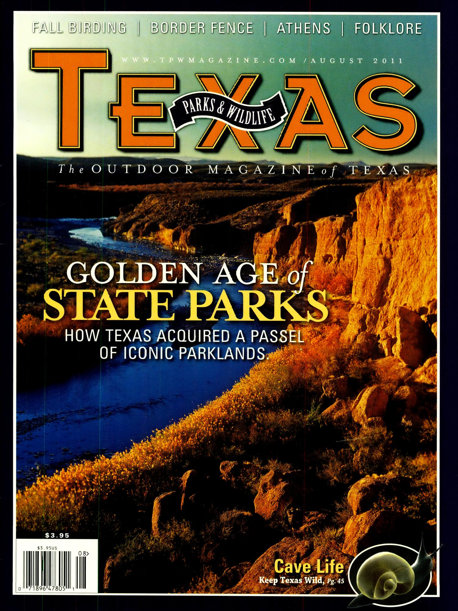 Texas Parks & Wildlife, Volume 69, Number 8, August 2011                                                                                                      Front Cover