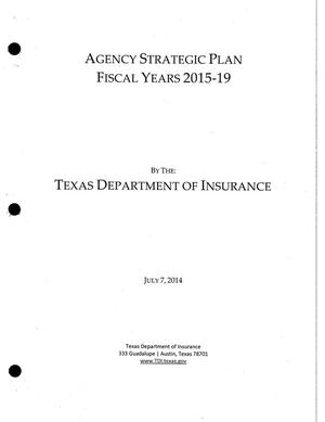 Primary view of object titled 'Texas Department of Insurance Strategic Plan: Fiscal Years 2015-2019'.