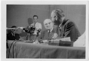 Primary view of object titled '[Harry S. Truman and Lyndon Johnson Seated Together]'.