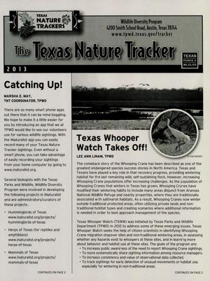 Primary view of object titled 'The Texas Nature Tracker, 2013'.