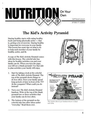 Primary view of object titled 'The Kid's Activity Pyramid'.