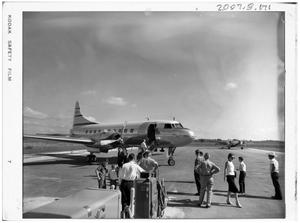 Primary view of object titled '[People and Airplanes on a Runway]'.