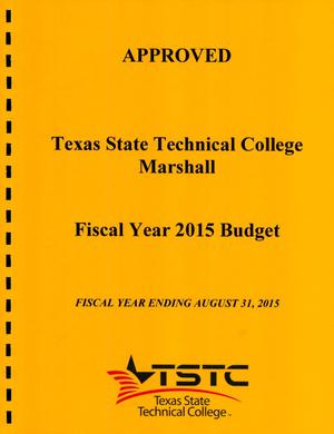 Primary view of object titled 'Texas State Technical College Marshall Budget: 2015'.