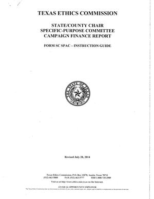 Primary view of object titled 'Texas Ethics Commission Form SC SPAC Instruction Guide'.