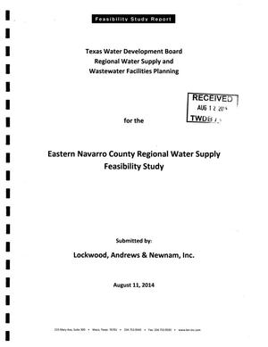Primary view of object titled 'Feasibility Study Report for the Eastern Navarro County Regional Water Supply'.