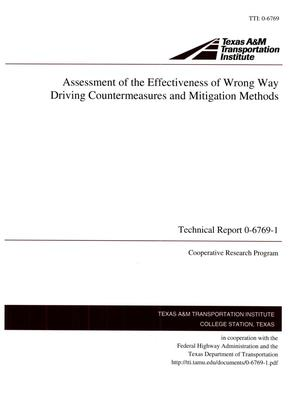 Primary view of object titled 'Assessment of the Effectiveness of Wrong Way Driving Countermeasures and Mitigation Methods'.