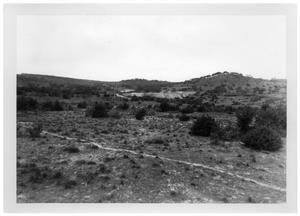 Primary view of object titled '[Scrub Covered Land and a Hill]'.