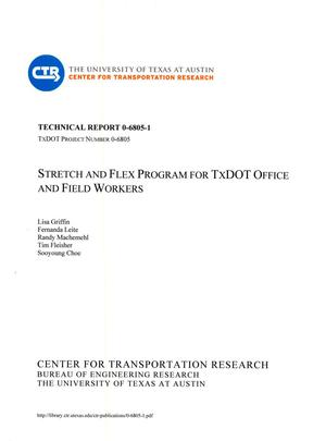 Primary view of object titled 'Stretch and Flex Program for TxDOT Office and Field Workers'.