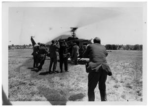 Primary view of object titled '[Photographers and a Helicopter]'.