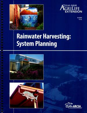 Primary view of object titled 'Rainwater Harvesting: System Planning'.