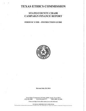 Primary view of object titled 'State/County Chair Campaign Finance Report'.
