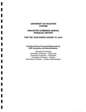 Primary view of object titled 'University of Houston System Annual Financial Report: 2014'.