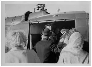 [Lyndon Johnson and Others in a Helicopter]