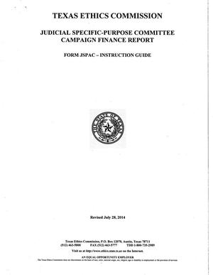 Primary view of object titled 'judicial Specific-Purpose Committee Campaign Finance Report'.