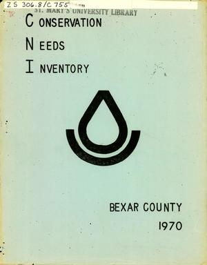 Primary view of object titled 'Bexar County Conservation Needs Inventory: 1970'.