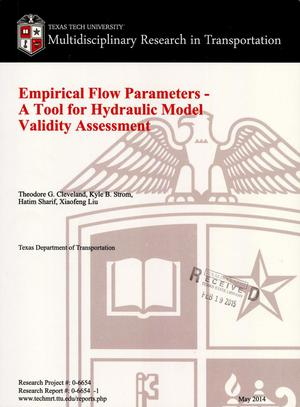 Primary view of object titled 'Empirical Flow Parameters- A Tool for Hydraulic Model Validity Assessment'.