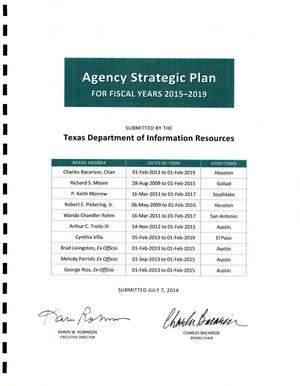 Primary view of object titled 'Texas Department of Information Resources Strategic Plan: Fiscal Years 2015-2019'.
