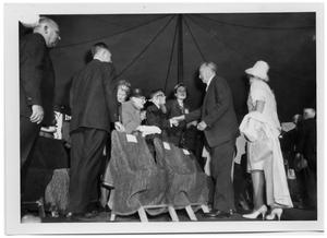 Primary view of object titled '[Konrad Adenauer Meeting People and Shaking Hands ]'.