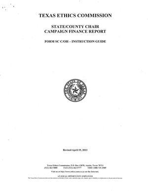 Primary view of object titled 'Form SC C/OH Instruction Guide: State/County Chair Campaign Finance Report'.