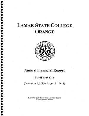 Primary view of object titled 'Lamar State College Orange Annual Financial Report: 2014'.