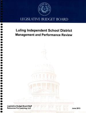 Primary view of object titled 'Luling Independent School District Management and Performance Review'.