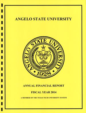 Primary view of object titled 'Angelo State University Annual Financial Report: 2014'.