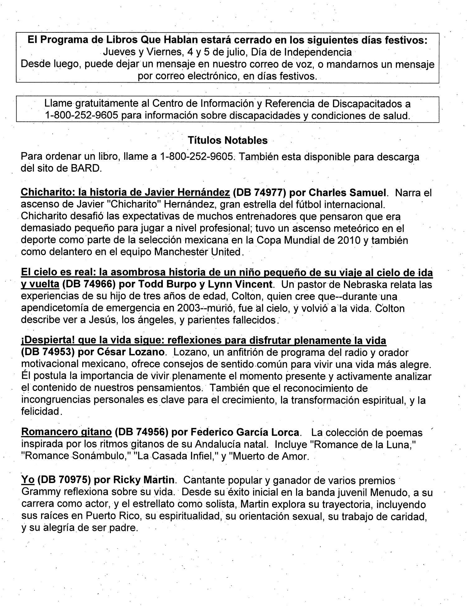 Boletín De Noticias Primavera 2013 Page El Programa The