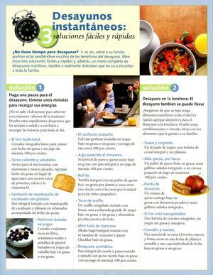 Desayunos Instantáneos: 3 Soluciones Fáciles Y Rápidas, Instant Breakfasts: Easy and Fast Solutions.