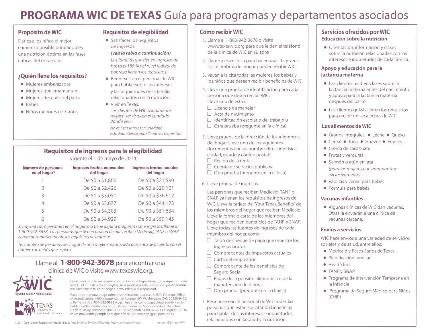Texas WIC Program: A Guide for Partner Programs and Agencies - Page ...