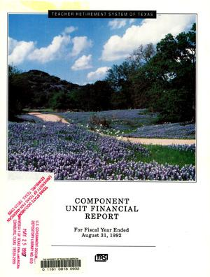 Primary view of object titled 'Teacher Retirement System of Texas Annual Financial Report: 1992'.
