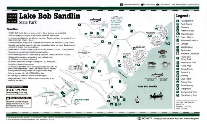 lake bob sandlin map Lake Bob Sandlin State Park The Portal To Texas History lake bob sandlin map
