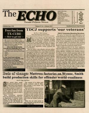 Primary view of object titled 'The ECHO, Volume 87, Number 1, February 2015'.