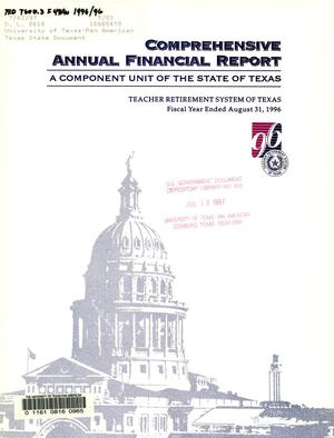 Primary view of object titled 'Teacher Retirement System of Texas Annual Financial Report: 1996'.