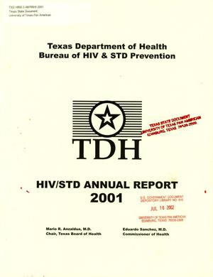 Primary view of object titled 'Texas Department of Health Bureau of HIV & STD Prevention Annual Report: 2001'.