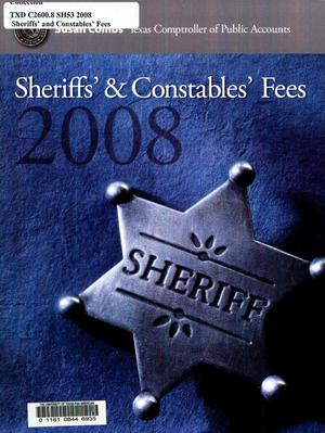 Primary view of object titled 'Sheriffs' & Constables Fees, 2008'.